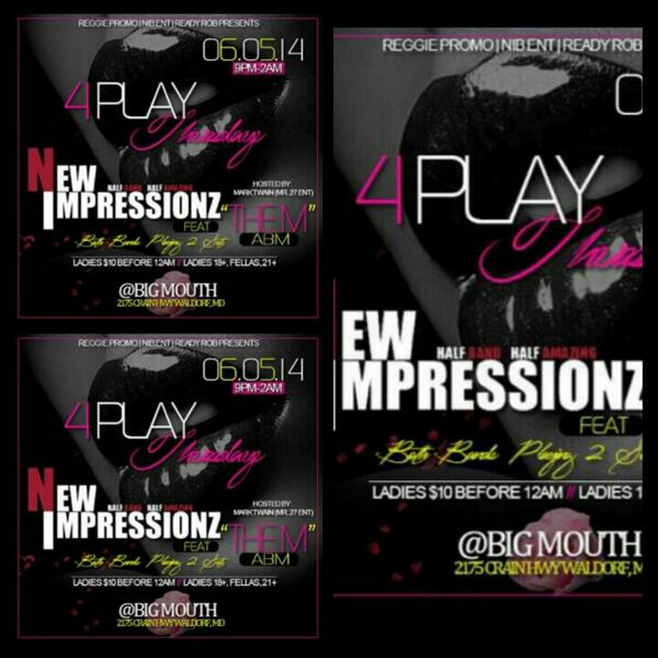 THIS THURSDAY LIVE AT CLUB BIG MOUTH WITH @NEWIMPRESSIONZ AND @ABM_BAND!!! http://t.co/GuDgWnTu5y