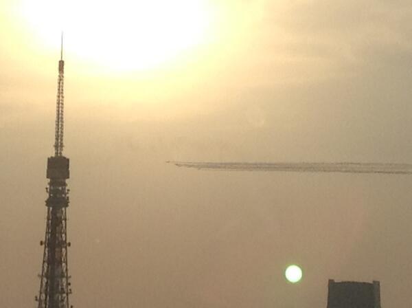 貿易センタービル40階展望台から。 http://t.co/8clIExMRrA