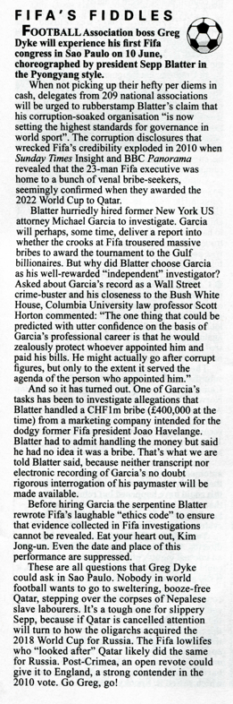 How Blatter blocked FIFA reform. In current edition of Private Eye magazine http://t.co/mzbrTLC9T1