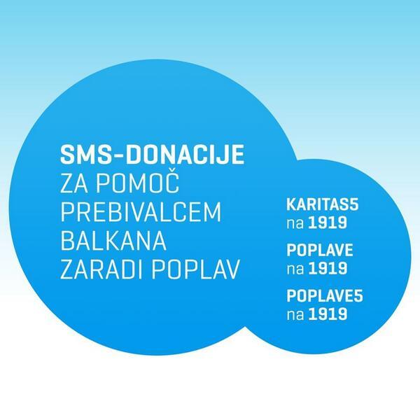 Pomoč prebivalcem poplavljenih območij v Srbiji in BiH lahko prispevate tudi s poslanim SMS-sporočilom. http://t.co/PBm8ADPVaK