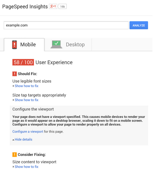 New mobile recommendations for PageSpeed Insights to make your site more mobile-friendly: http://t.co/Q6sGecXxLL http://t.co/cbpvp4c0yv