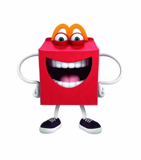 """""""Eat my burger, and I'll devour your soul!"""" - RT @McDonalds: Say hello to our newest friend, Happy! #HappyMeal http://t.co/zzBmoe19R2"""