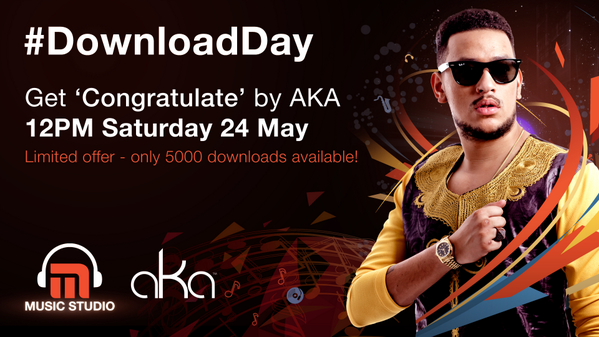 Get 'Congratulate' by @akaworldwide on #MxitMusicStudio this Saturday, 24 May, at 12PM. http://t.co/3mDtx3kDia