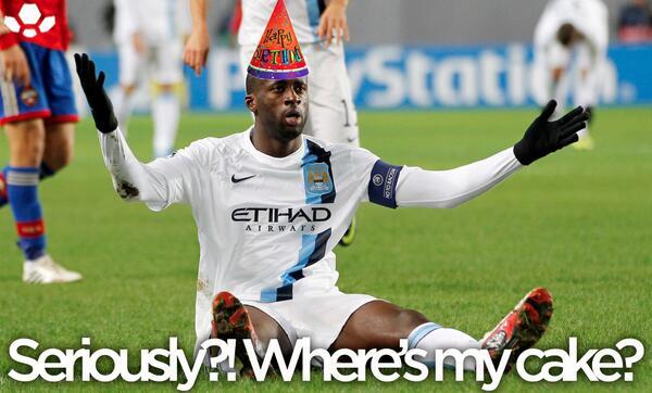 Birthday Cake Yaya Toure Meme