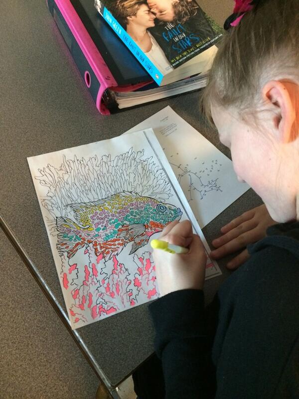 Mya is working on her coloring contest entry. #DPLN http://t.co/bz1isxWAkP