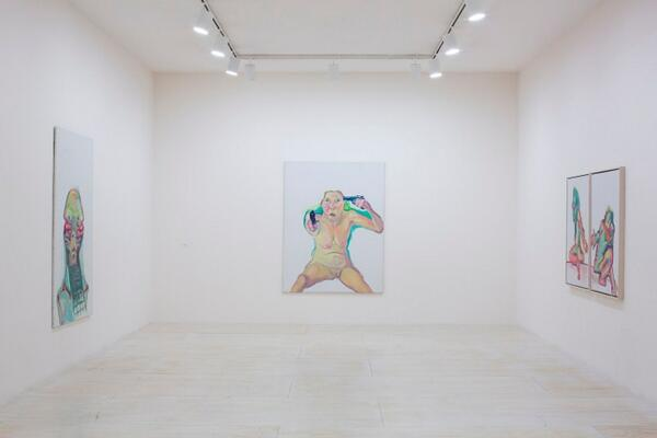 """Maria Lassnig"" - extended through September 7! Installation view of ""Maria Lassnig"", 2014. Photo Matthew Septimus. http://t.co/Mnwgpy3gnt"