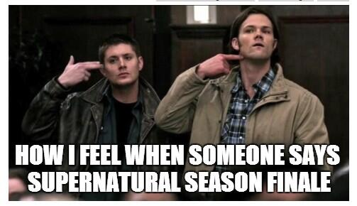This is us #SPNFamily right now ---> Supernatural Season Finale TODAY http://t.co/54MaIOzyaN