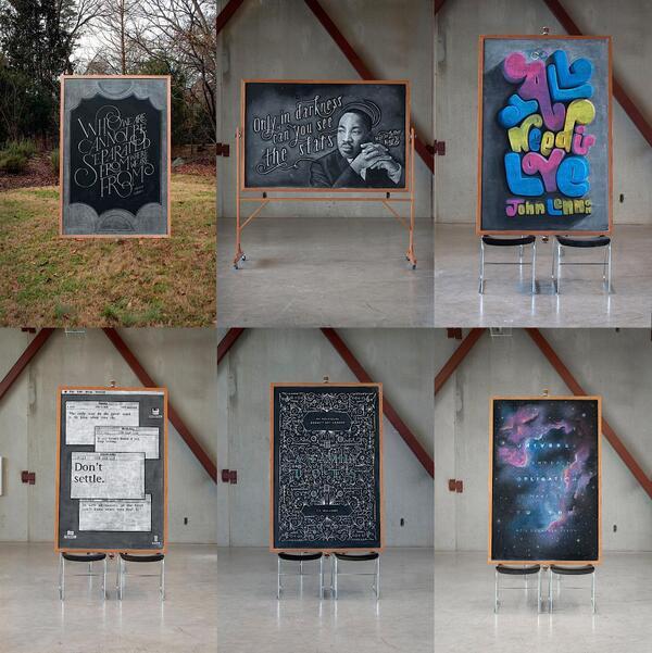 น.ศ. Columbus College of Art & Design ใช้ชอล์กเขียนคำคมบนกระดานดำอาทิตย์ละครั้ง ดูสิ! (กดต่อ http://t.co/Br0APch4fQ) http://t.co/JtTem9y6HZ