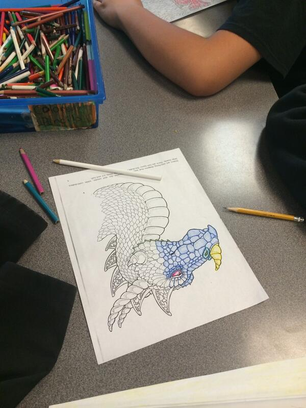 Sweet dragon coloring page by Matt #DPLN http://t.co/IRMgzvZS9w