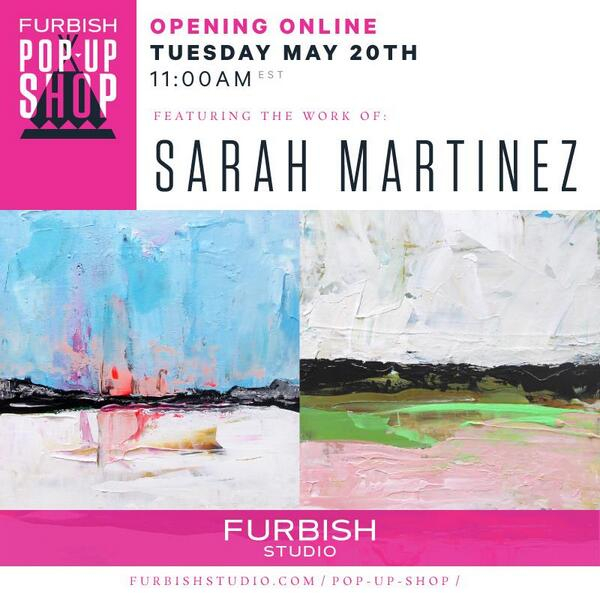 RT @theenglishr: get ready for the fabulous @furbishstudio sale at 11am! #art #abstractart by Sarah Martinez! http://t.co/PqUWbTQH3Z