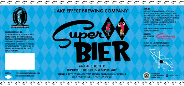 SUPERDOG BEER COLLAB! This just won summer! MT @LakeEffect_LLC  Its here!- label for our collab beer with @Superdawg http://t.co/mnAfP0DRcR
