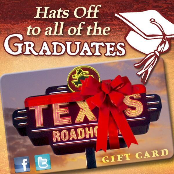 Hats off to all of the graduates! RT if you'd like to receive a Texas Roadhouse gift card! http://t.co/5yX6BqRV7k
