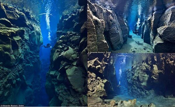 The stunning tectonic plate gap between Europe and America: http://t.co/6UoGkeE8Wu