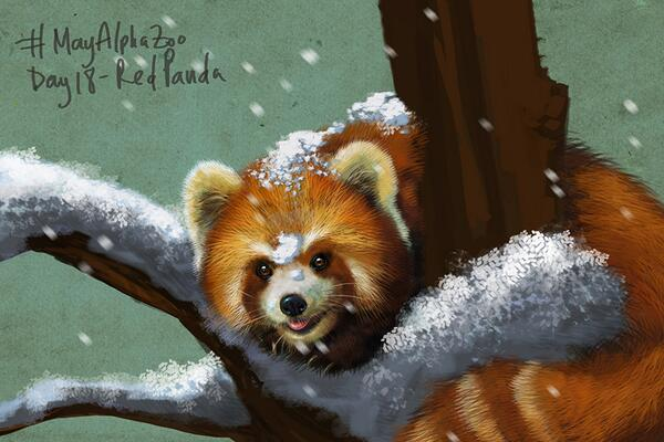 Red Panda's for #MayAlphaZoo Day Something or other! I've lost track. This one is for you @MHs_Creations Love ya! http://t.co/IR4Bd7tTpl