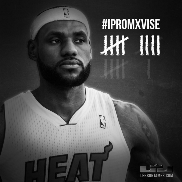 Win number VIII. 7 more remain. Let's get back to the NBA Finals #TeamLeBronNation! #3Peat #IPROMISE http://t.co/eeVQezdCE8