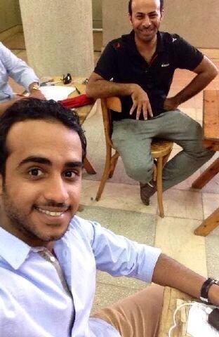 آخر صورة جمعتني وإياه في قاعة الاختبار قبل إجراء عمليته بيوم ، رحمك الله يابو محمد وتقبلك بغفرانه  #جابر_القحطاني http://t.co/uHuvyc0V5o
