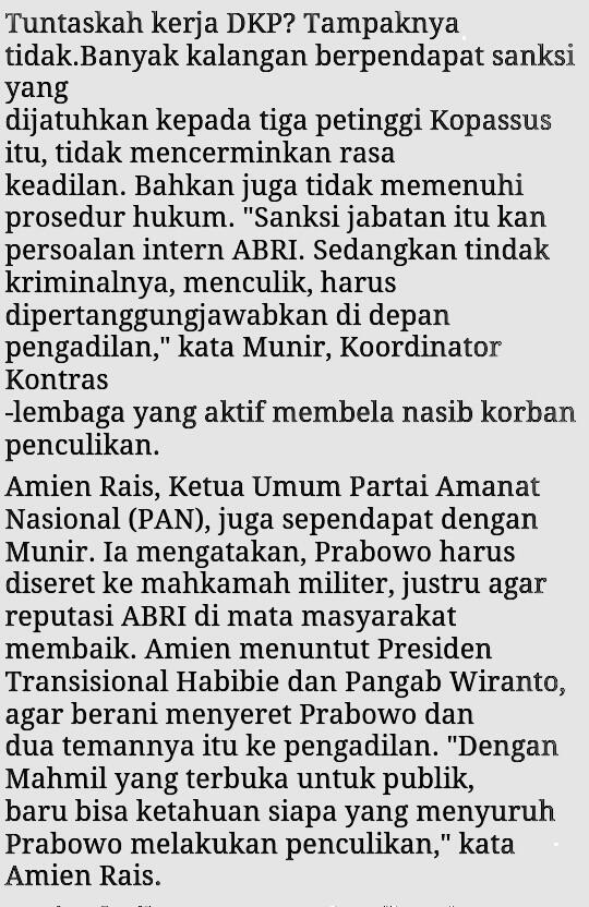 Nah Amien Rais mengatakan Prabowo harus diseret ke Mahkamah Militer! http://t.co/khUoXWYnRw