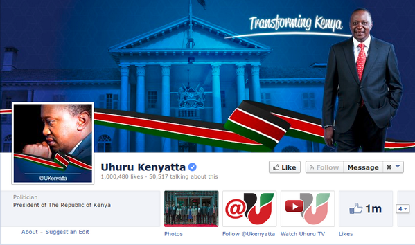 Thank you Kenya for the 1 million likes! http://t.co/uH0R1Lxj8P