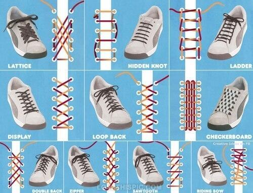 靴紐の結び方♡