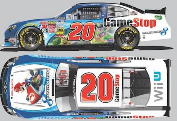 Check out @mattkenseth's No.20 @GameStop Mario Kart 8 Toyota for this weekend @CLTMotorSpdwy! http://t.co/2nkL3HZC6i