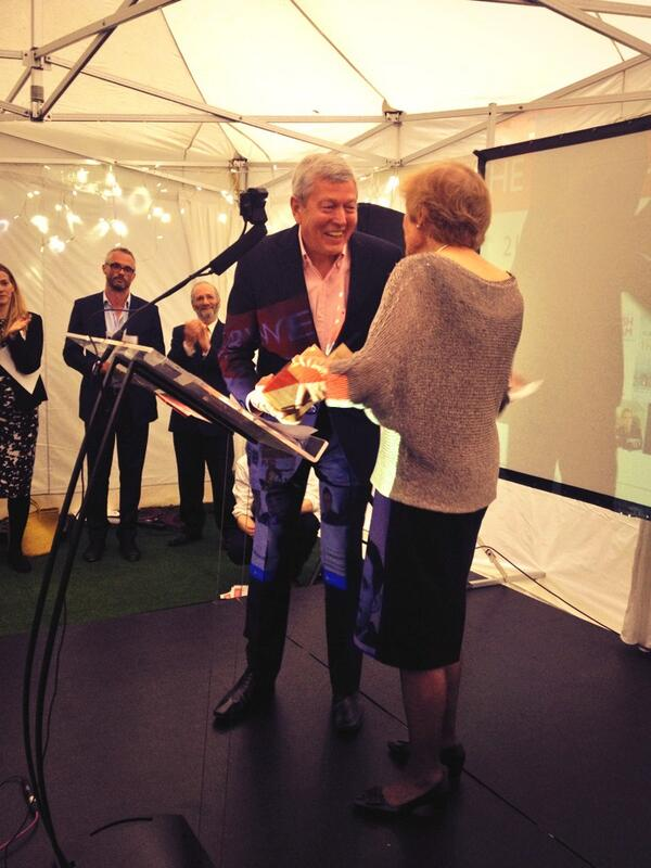 Alan Johnson accepts the Orwell Prize for Literature for 'This Boy' #OrwellPrize14 http://t.co/qPDnaPnt9X