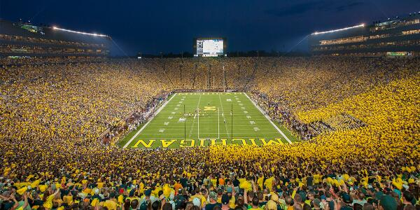 Retweet to enter to win two tickets to Michigan vs. Penn State under the lights. #GoBlue200K http://t.co/JngZmq3kQ3