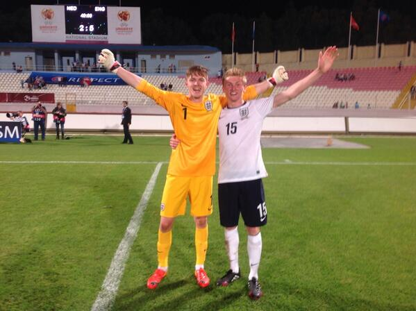 YES England win the shoot-out. We are Under-17 CHAMPIONS OF EUROPE #ENGvHOL http://t.co/pCfpgyyKae