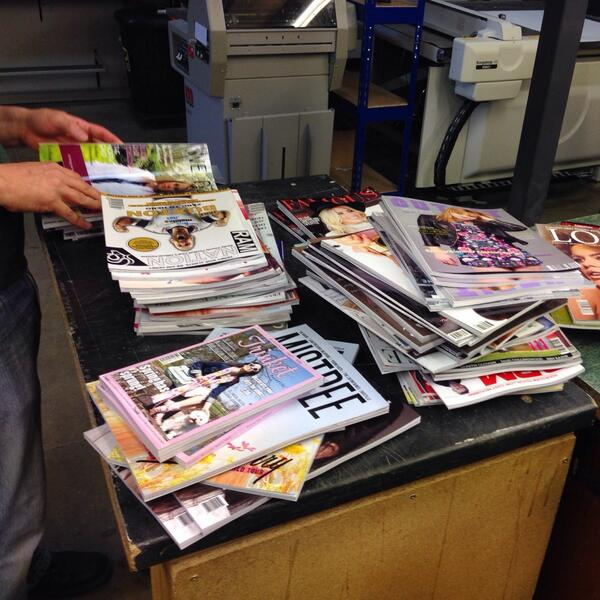 Hundreds of amazing magazines printed, ready for delivery tomorrow! Top work @sunderlanduni journalism students! http://t.co/KVQ1D1wc0s