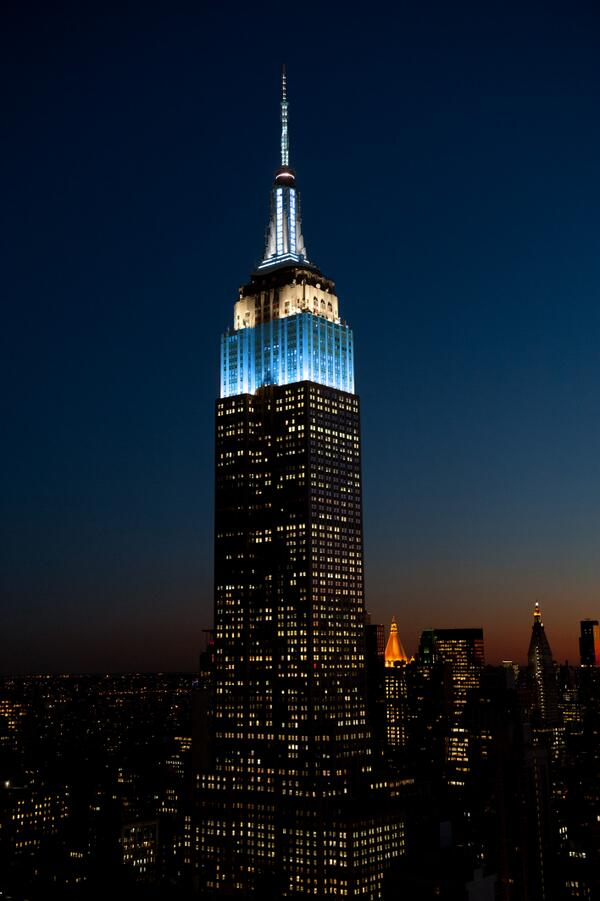 Congratulations #Columbia2014! (Image: Empire State Building is a trademarked image & used with permission by ESRT) http://t.co/t8WDlIYOVy