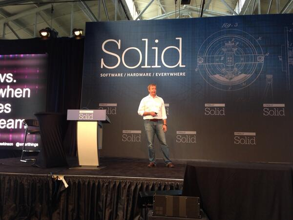 Caitlyn Carpanzano (@CCdip): Mr @ahawkinson announces the next phase of @smartthings on stage at Solid http://t.co/QmrMQDxlSL