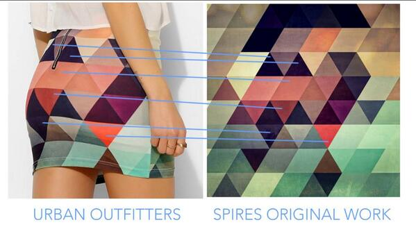 Oh, silly companies. Stealing isn't good. RT @spires1776: See any resemblance? @UrbanOutfitters #spires http://t.co/u3pGevyK2k