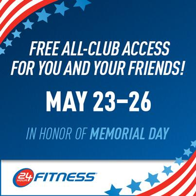 In honor of Memorial Day, we're opening our clubs to everyone this weekend- grab a friend and hit the gym! http://t.co/Ca8xUisvjp