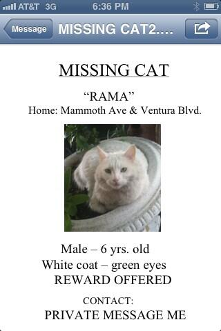 Also, our dear Rama is missing. Pls RT and help us bring him home. Thanks. http://t.co/o2Ug4oBXRD