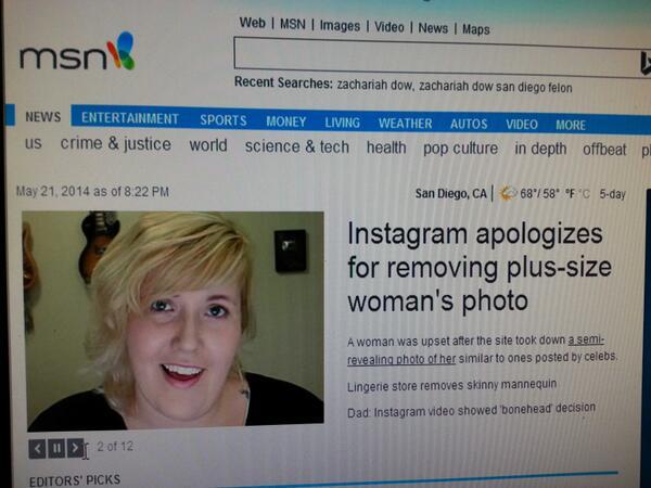 Front page msn...Go @meghantonjes !!! #buttstagram http://t.co/RsnEc4FVff