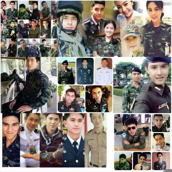 Trending in Thailand under Martial law: #soldiercuteboy #handsomesoldiers #ทหารหล่อบอกด้วย #ทหารหล่อ. http://t.co/uNszCzv8FQ