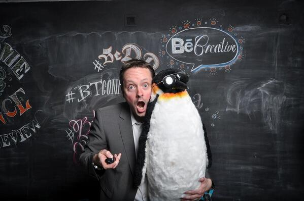 RT @KShinabery212: Making new friends at #BehanceReviews is always fun. Especially when they are #Penguins! #BeDDorf, #BTConf, @Behance http://t.co/GpRVYz14Dq