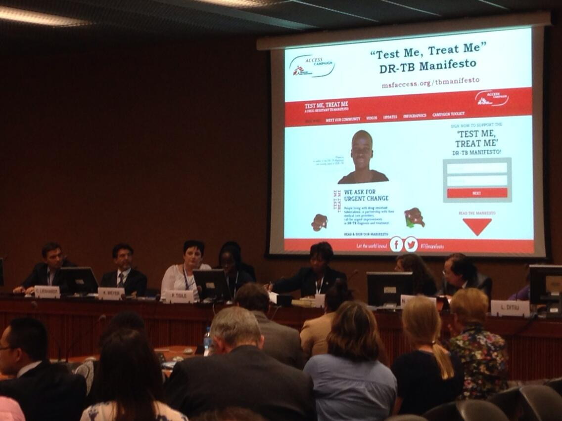 RT @joanna_keenan: .@Ptisile speaks to delegates at @MSF_access side event on #TB http://t.co/Wm3PaFjShg