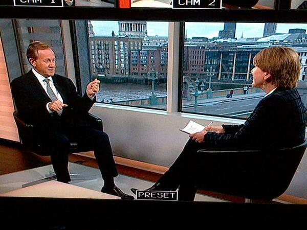 Regus' CEO, Mark Dixon, being interviewed by @sarahgor from the @FinancialTimes for #viewfromthetop out on Sunday http://t.co/KIxWyx0Hgw