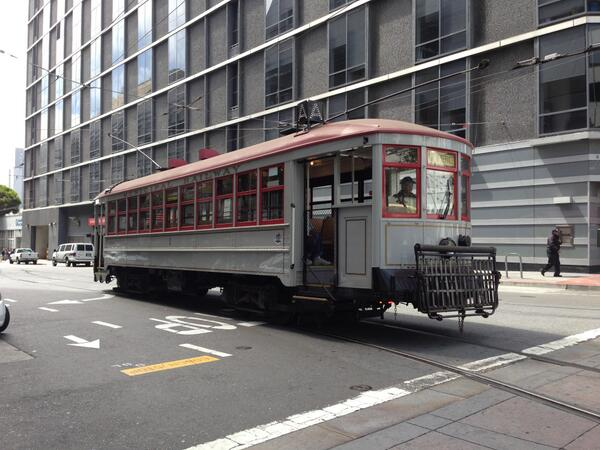 Look out for Muni's very first street car purchased in 1912. Car 1! http://t.co/nvtQNZXzOO