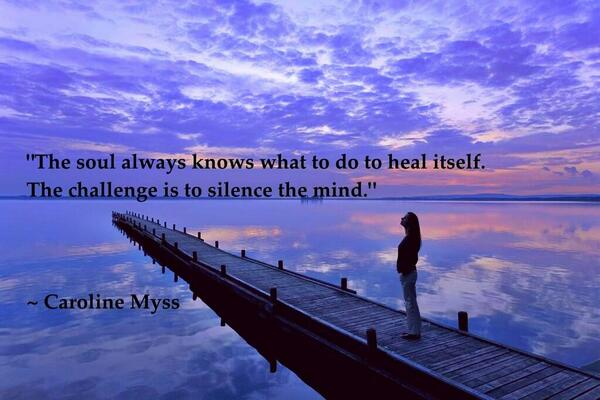 The soul always knows what to do to heal itself. The challenge is to silence the mind. - Caroline Myss | @BorisAloha http://t.co/fO9MTdgRAI