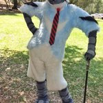 Image of fursuit from Twitter