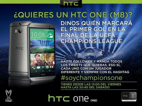 ¿Quieres ganar un HTC One(M8)? #SoyChampionsOne http://t.co/mGaY81tGFA