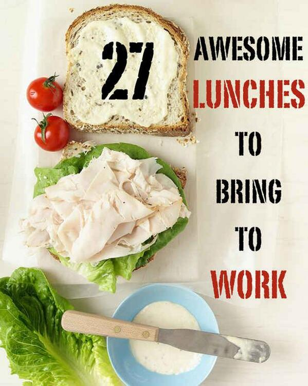27 Awesome Easy Lunches To Bring To Work #nutrition #health > http://t.co/FGl677LosE http://t.co/2Jg6yu60ae