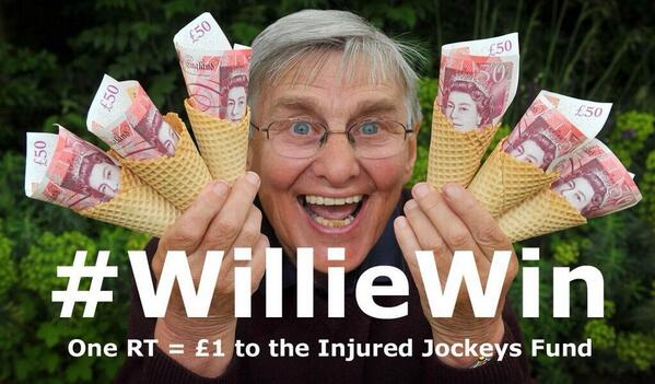 Will be having lots of fun with #WillieWin #Scoop6 in next 24 hours. Willie busy with the media tomorrow. http://t.co/ZeTulmemTg