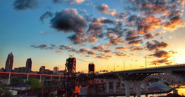 Beautiful Beautiful Beautiful Cleveland! RT @MVielhaber: Best location in the NATION! #ThisisCLE http://t.co/UFJ4dkXnHx