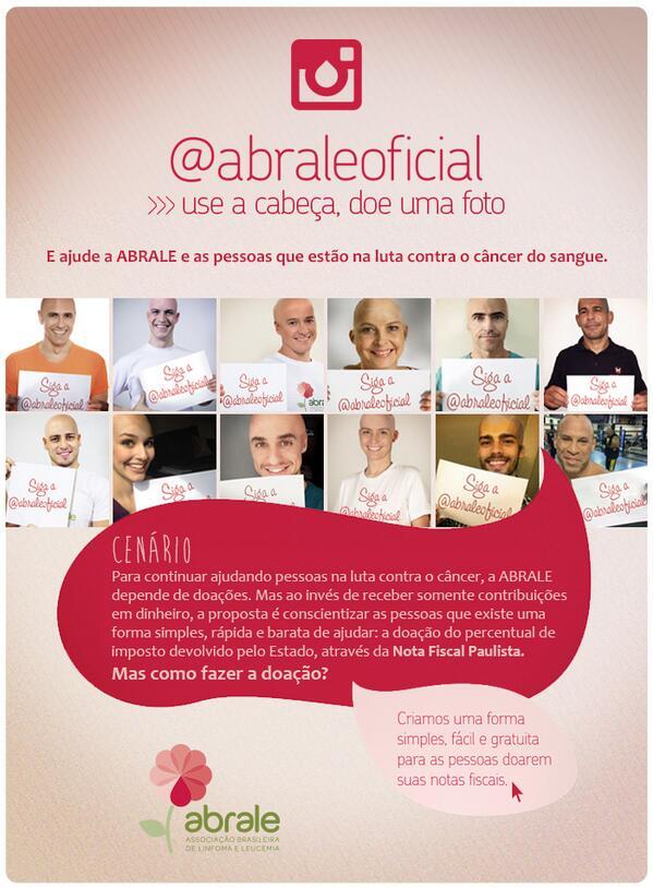 Você já conhece a nova campanha da Abrale?! Acesse: http://t.co/ID0JGFVOPx e saiba como ajudar. #notaparaabrale http://t.co/khH4OjzlIf