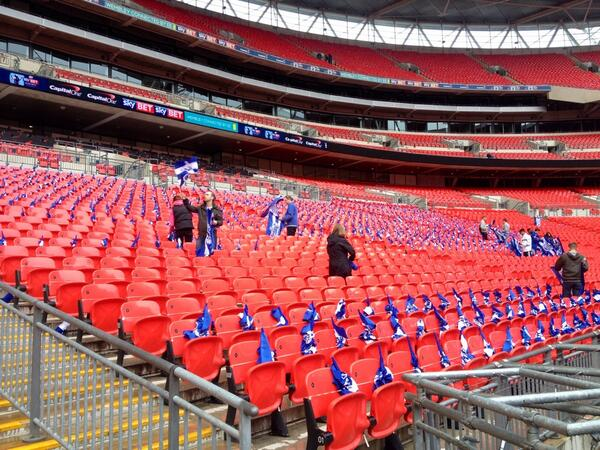 QPR putting thousands of flags out. Nothing like that for @dcfcofficial. Just another game. http://t.co/tzz9bznmZA