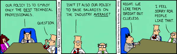 Hiring the ideal tech talent (Dilbert): http://t.co/K65rVpfMdX