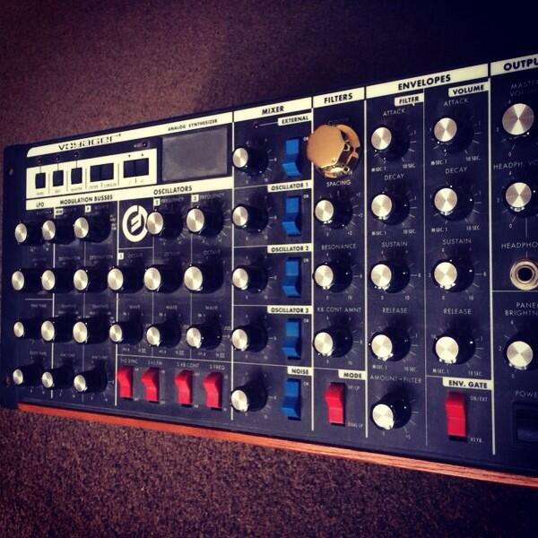It's crazy how a bunch of knobs and circuits can touch my soul! Happy 80th Birthday Bob Moog! @moogmusicinc http://t.co/lpSYQ5ZGhw