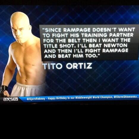 @titoortiz - ORTIZ drops the truth ~ @Primetime360ESM @Rampage4real @BjornRebney ~ http://t.co/Zgbp744DSP
